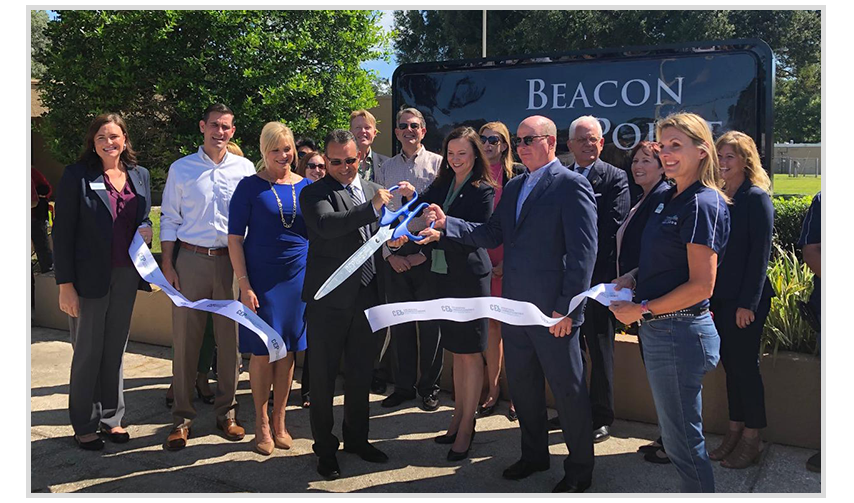 ribbon cutting and grand opening celebration of Beacon Point